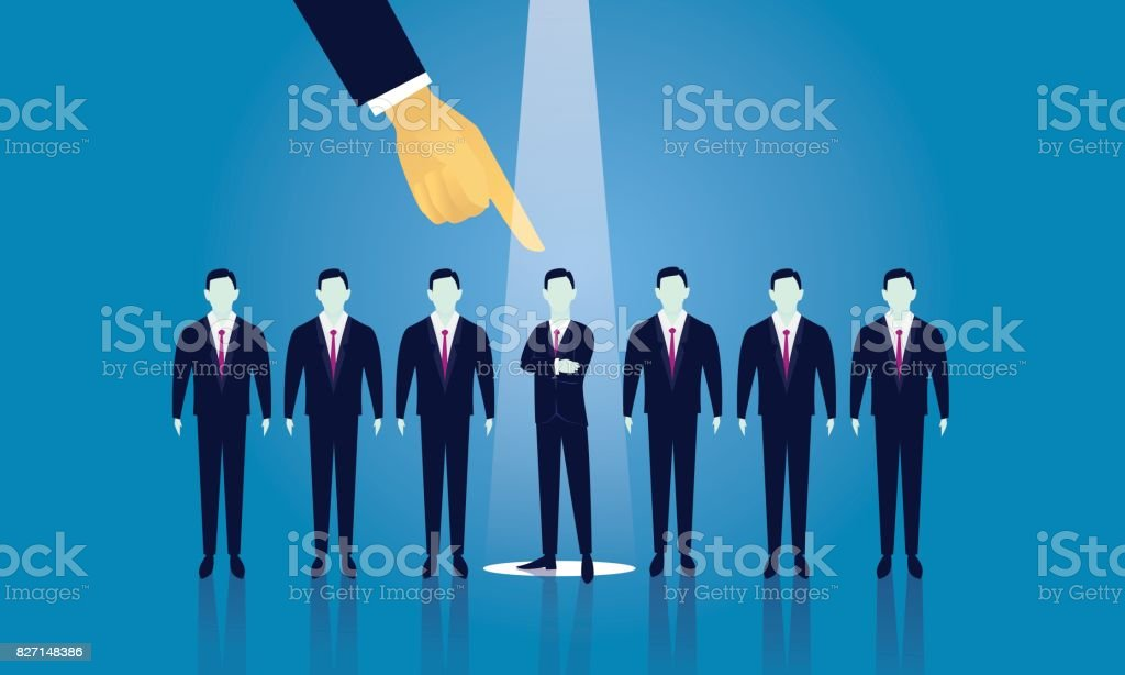 Business Recruitment Concept Selecting Businessman vector art illustration