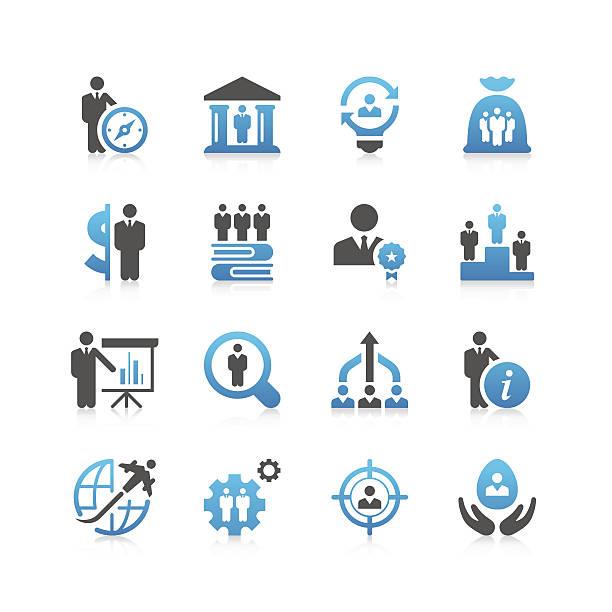 business & anwerbung icon set/präzise series - arbeitsvermittlung stock-grafiken, -clipart, -cartoons und -symbole