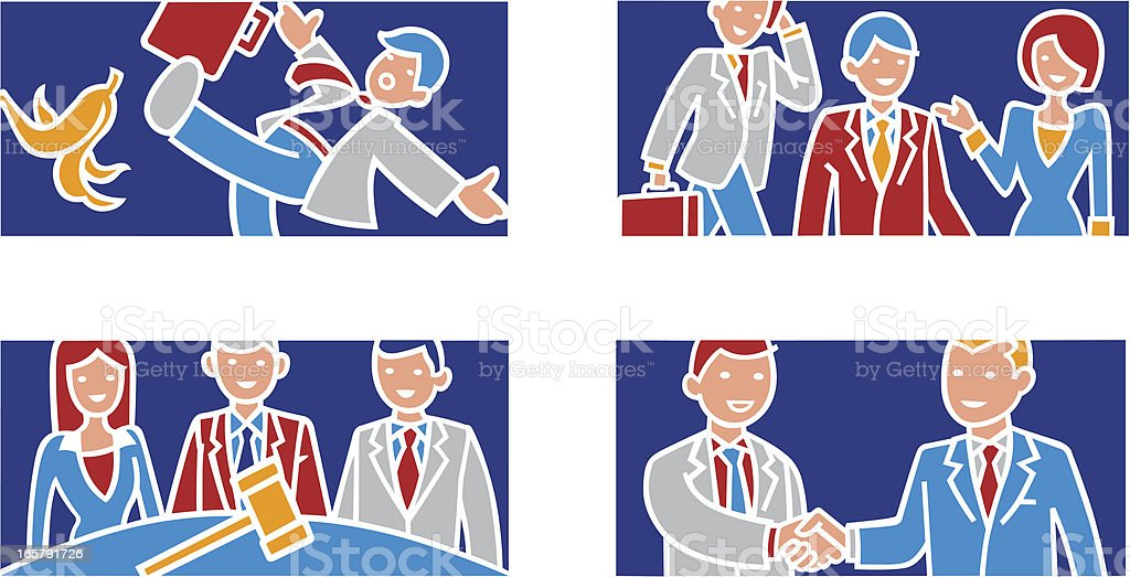 Business related illustrations vector art illustration