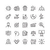 istock Business Related Vector Line Icons 1131387967