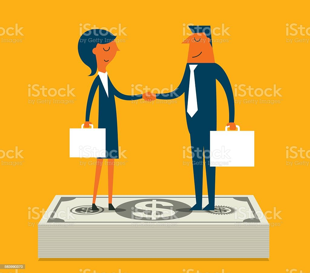 Business relationship vector art illustration