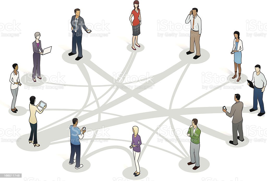 Business Relationships Illustration vector art illustration