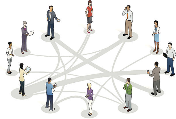 Business Relationships Illustration vector art illustration