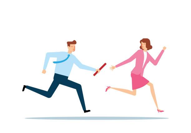Business Relay vector art illustration
