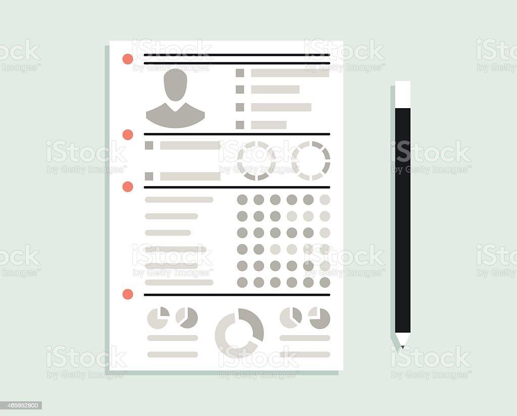 Reanudar Con Información Personal De Negocios Illustracion Libre de ...