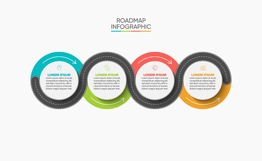 Business road map timeline infographic icons designed for abstract background template