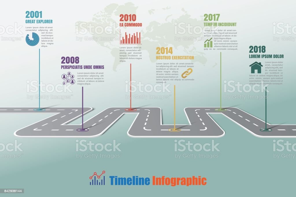 business road map graphic