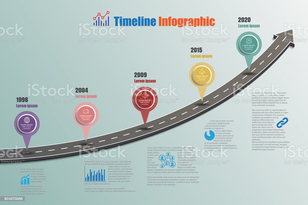 business road map timeline infographic vector illustration royalty free business road map timeline infographic