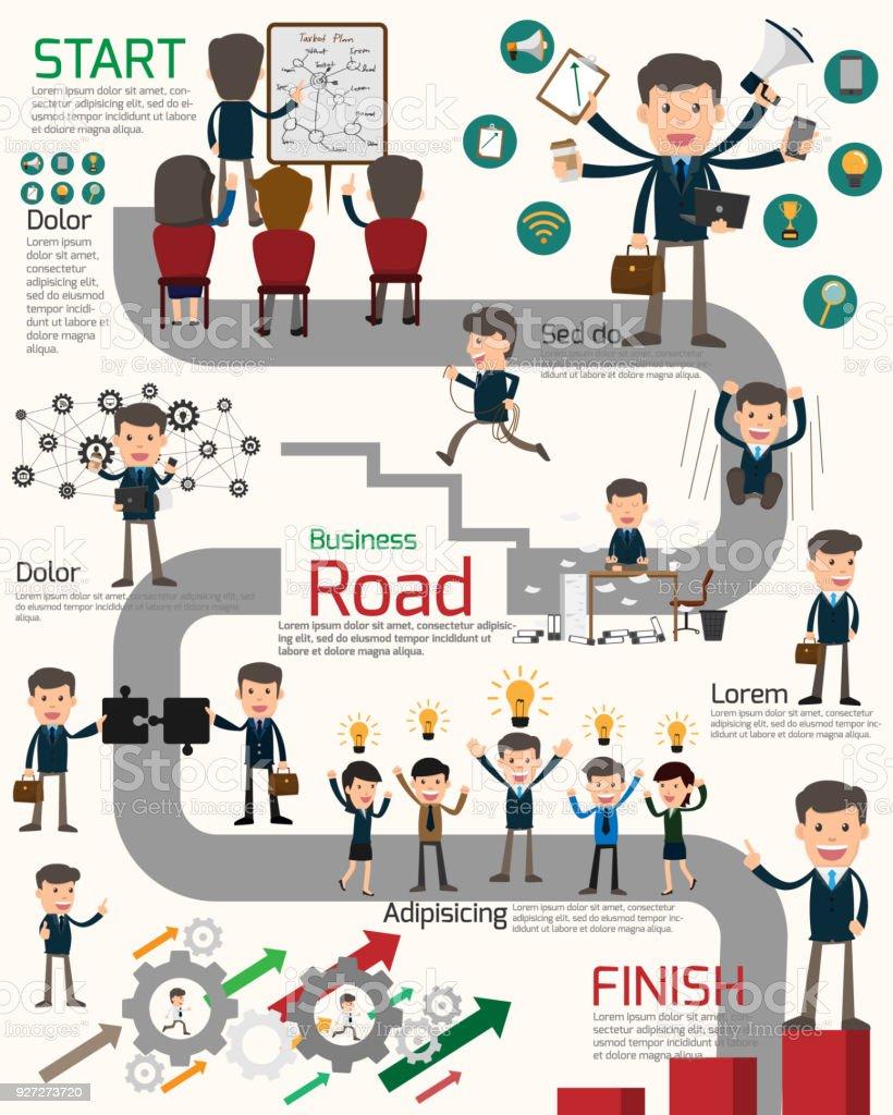 Ilustración de Plan De Negocios Con Estación De Trabajo De ...