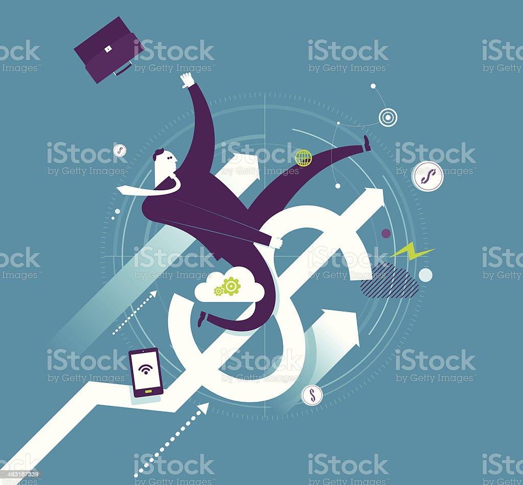 Business rodeo vector art illustration