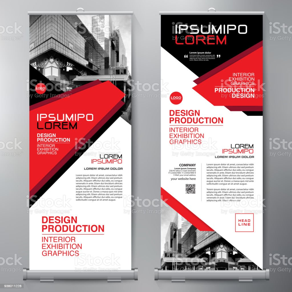 business roll up standee design banner template presentation and, Template Presentation Brochure, Presentation templates