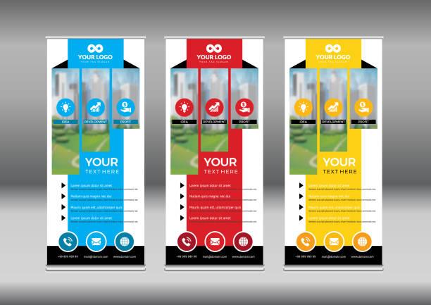 Business Roll Up. Standee Design. Banner Template. – artystyczna grafika wektorowa