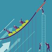 Vector illustration - Business Roller coaster