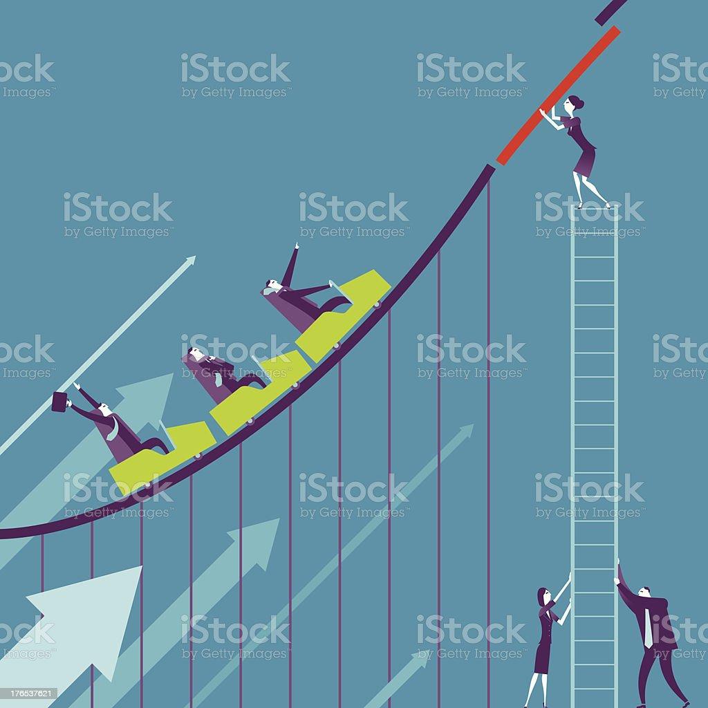 Business-Achterbahn – Vektorgrafik