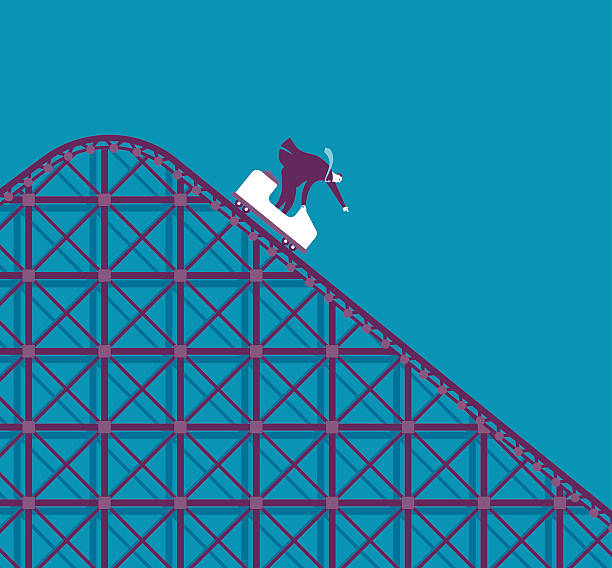 business roller coaster - roller coaster stock illustrations
