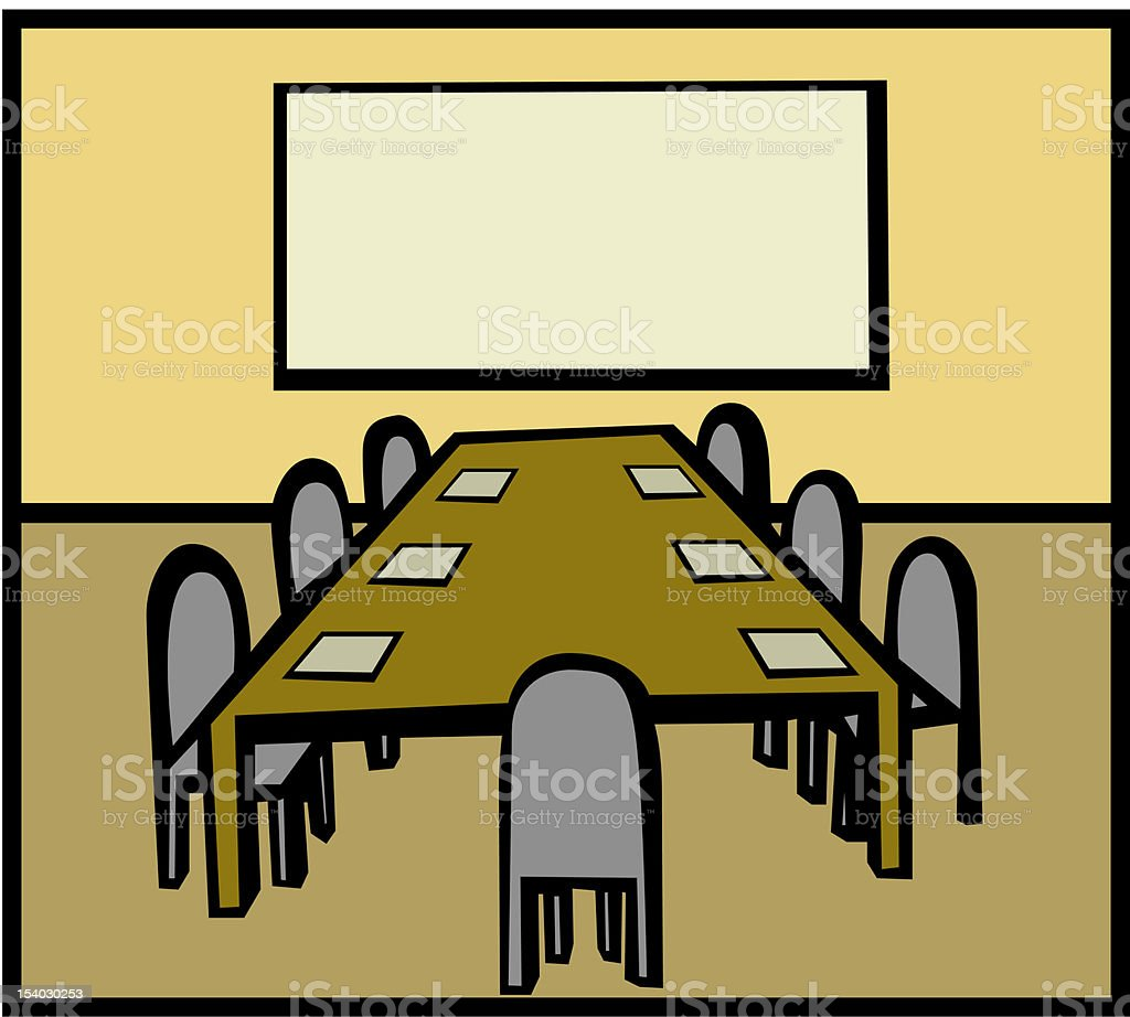 business room royalty-free stock vector art