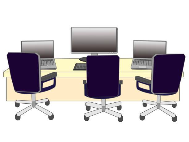 business room – artystyczna grafika wektorowa