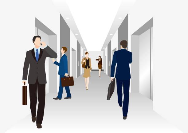 ビジネスシーン - 通勤点のイラスト素材/クリップアート素材/マンガ素材/アイコン素材