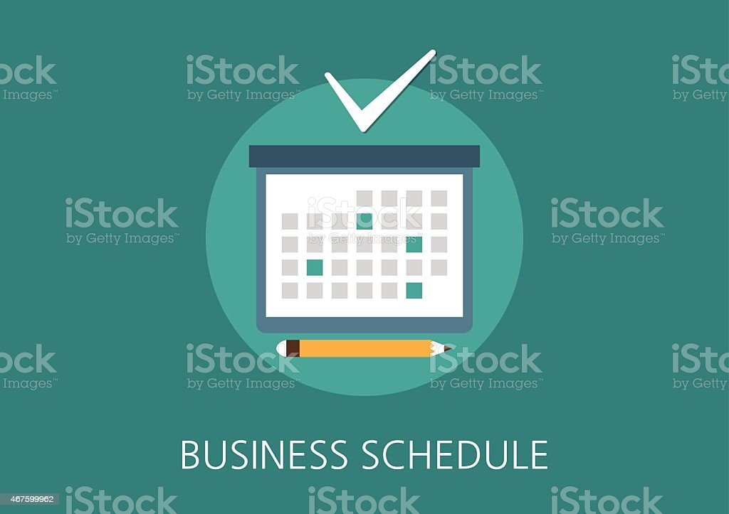 business schedule concept flat icon vector art illustration