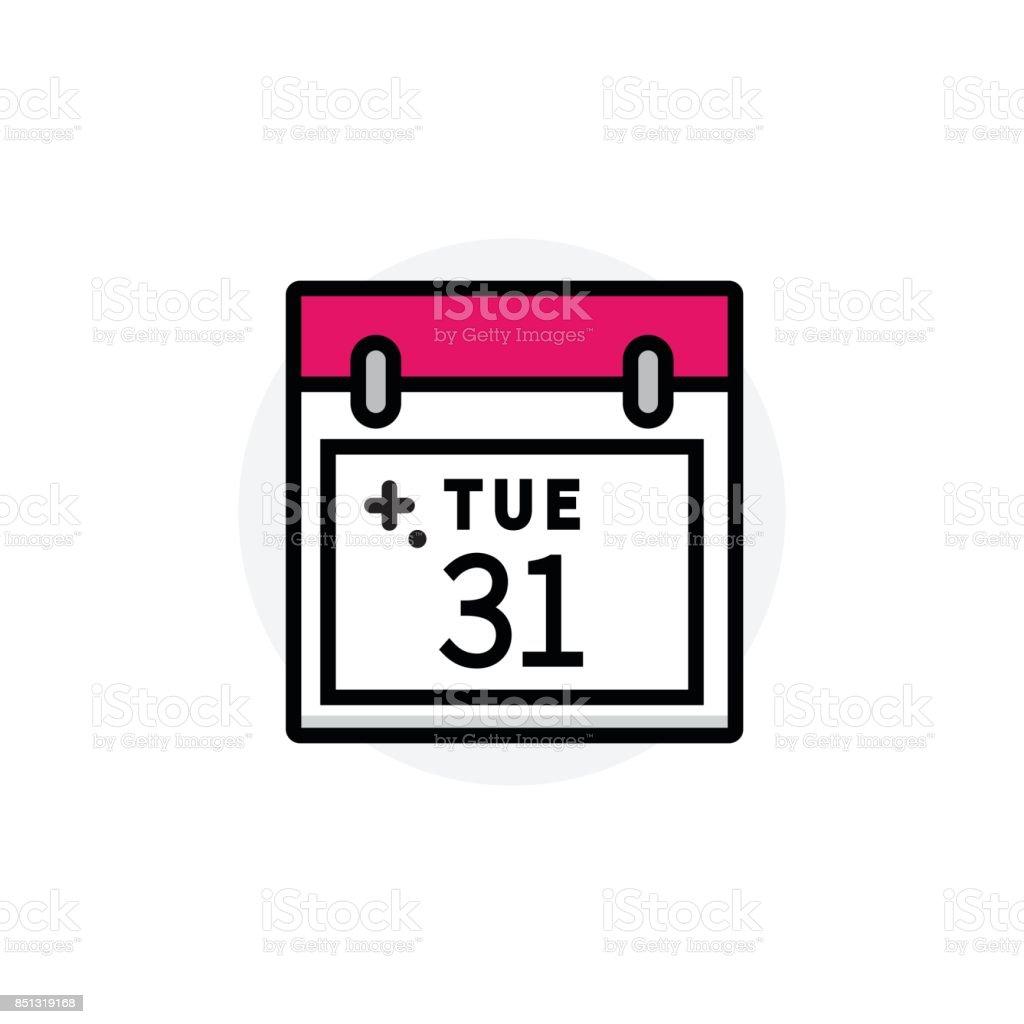 Concept de calendrier d'affaires isolé ligne Vector Illustration icône modifiable - Illustration vectorielle