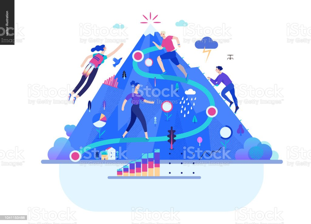 Business series - career web template royalty-free business series career web template stock illustration - download image now