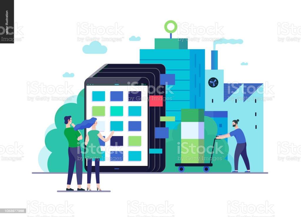 Série Business - modèle de web catalogue de produit - Illustration vectorielle