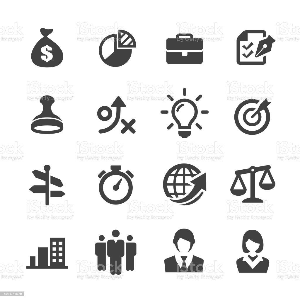 Business Service Icons Set - Acme Series vector art illustration