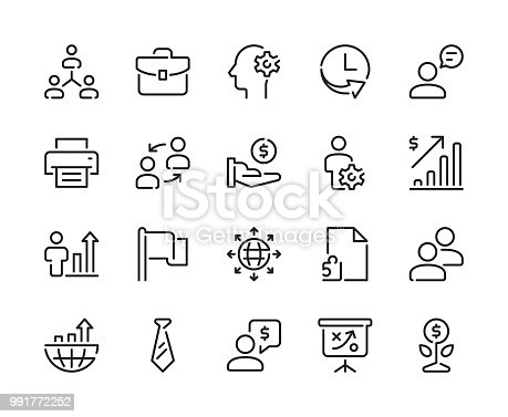 Business - Set 2 Line Icons Vector EPS 10 File, Pixel Perfect Icons.