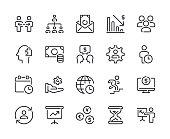 Business - Set 3 Line Icons Vector EPS 10 File, Pixel Perfect Icons.