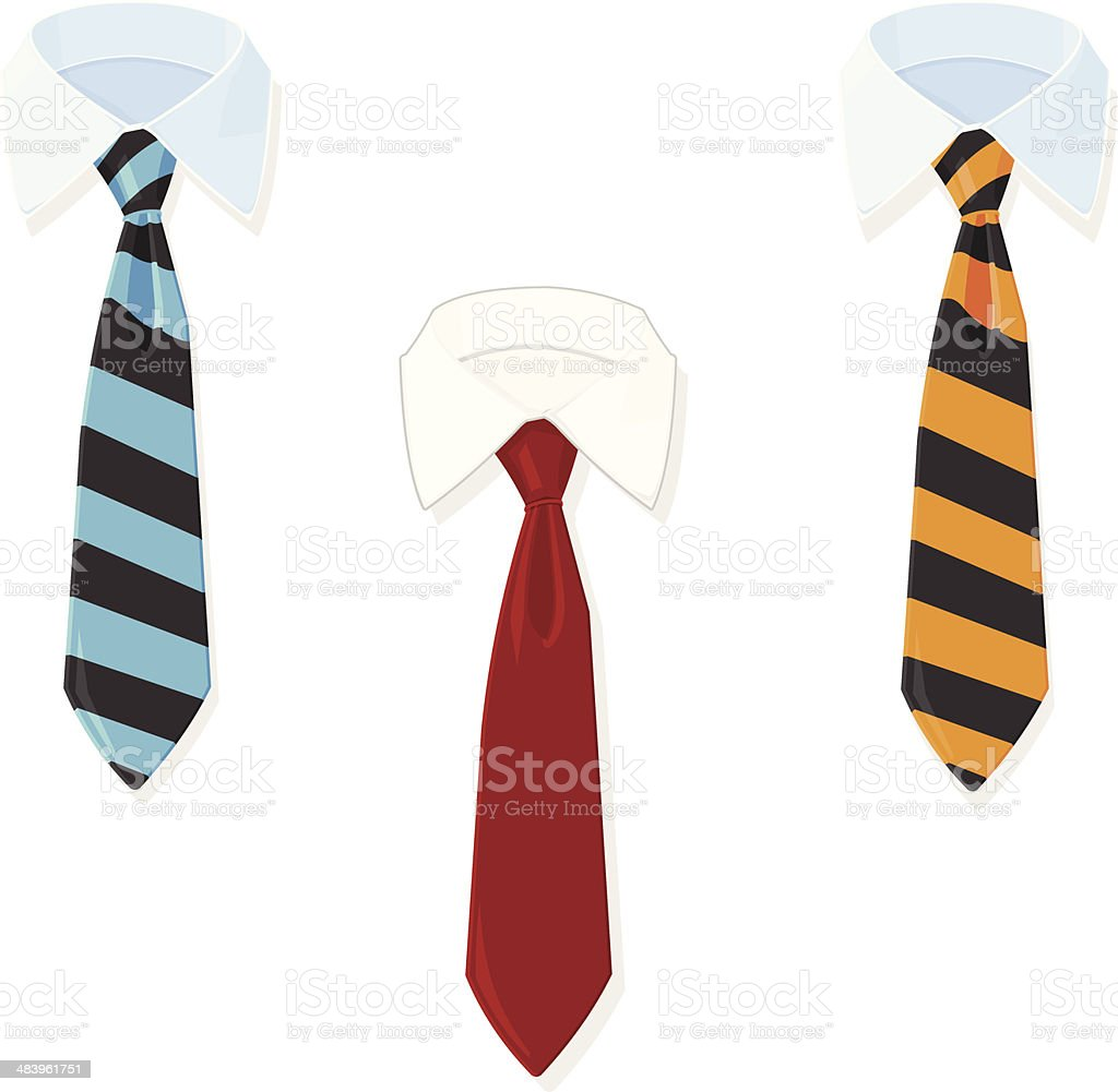 Business Shirt and Tie vector art illustration