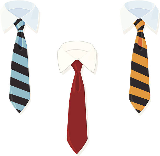 stockillustraties, clipart, cartoons en iconen met business shirt and tie - overhemd en stropdas