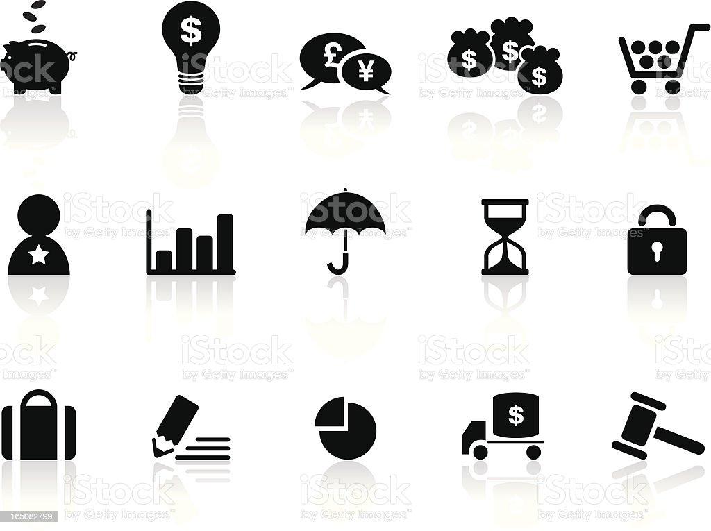 Business Shopping Symbols | Black & White royalty-free stock vector art