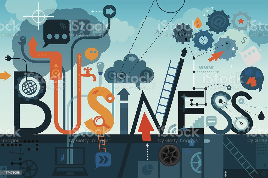 Business Sign vector art illustration