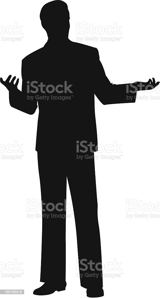 Business Silhouette vector art illustration