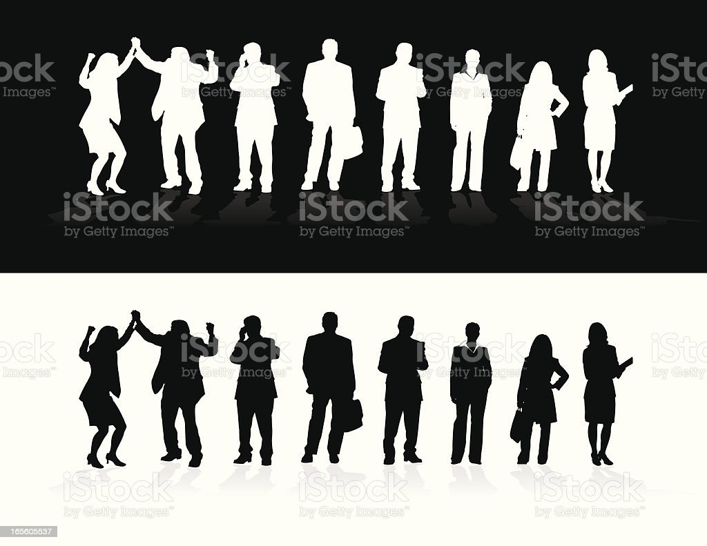Business Silhouettes royalty-free stock vector art