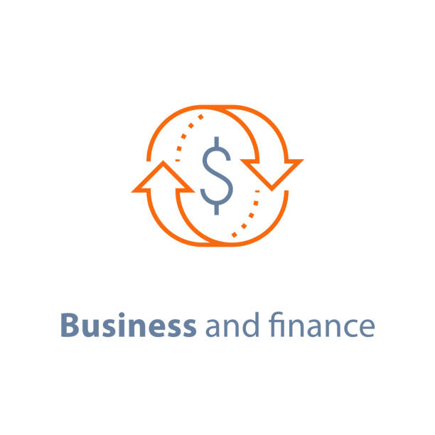 illustrazioni stock, clip art, cartoni animati e icone di tendenza di business solution, finance insurance service, currency exchange, mortgage loan refinance, fund management, return on investment - bonus