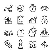 Business Solution Icon - Line Series