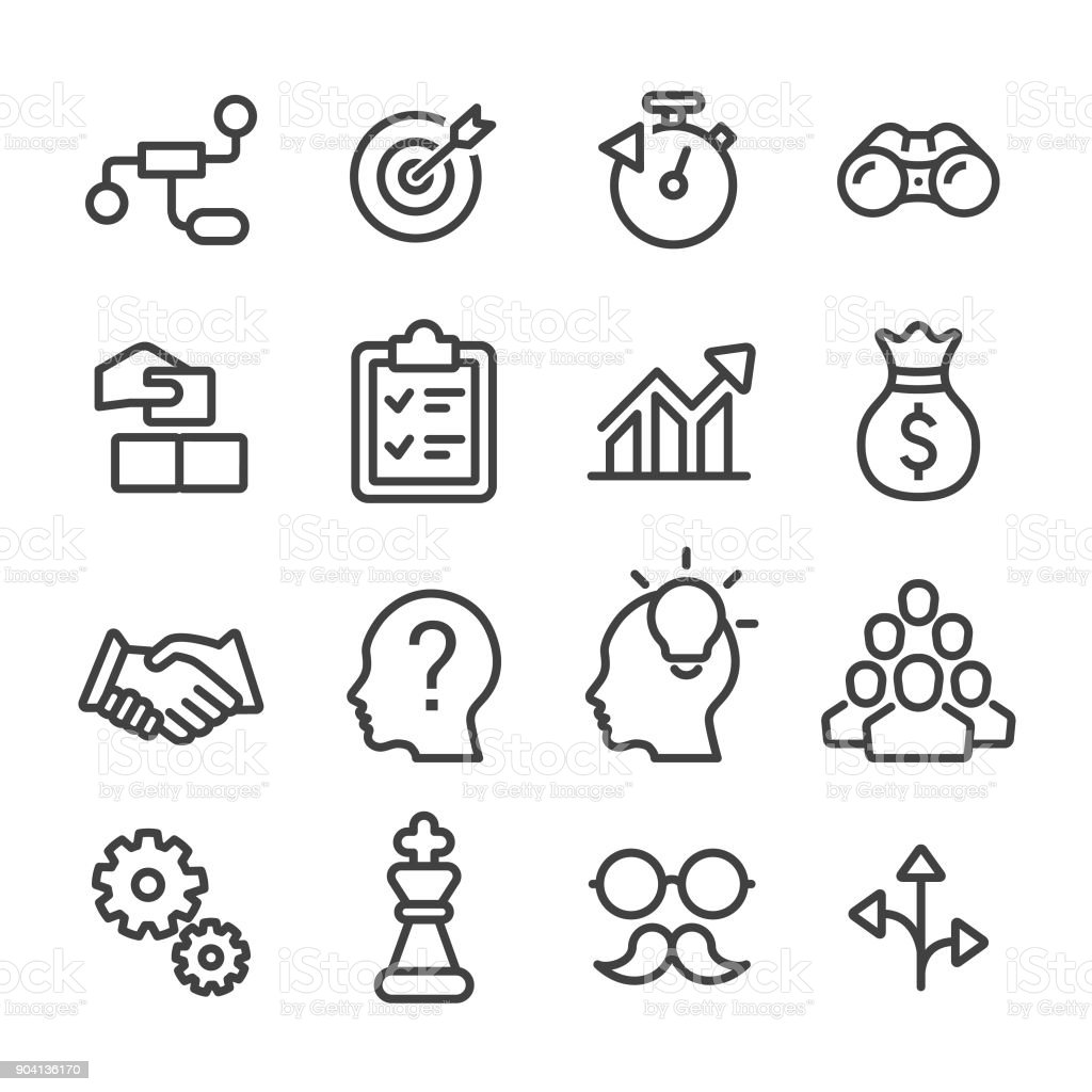 Business Solution Icon - Line Series vector art illustration