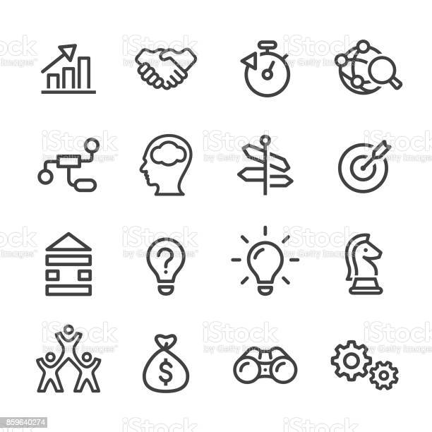 Business Solution Icons Line Series Stock Illustration - Download Image Now