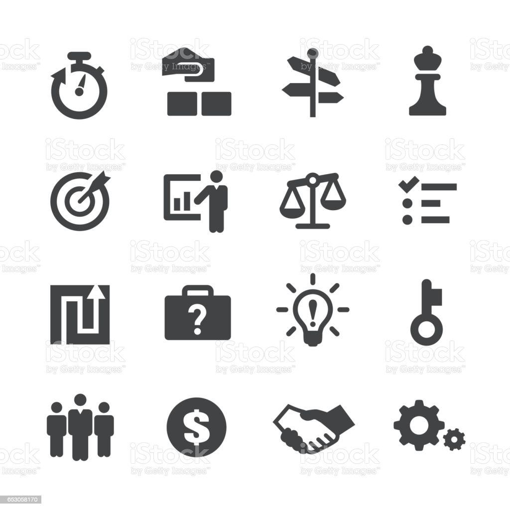 Business Solution Icons Set - Acme Series vector art illustration