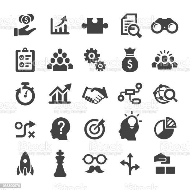 Business Solution Icons Série Smart Vecteurs libres de droits et plus d'images vectorielles de Affaires