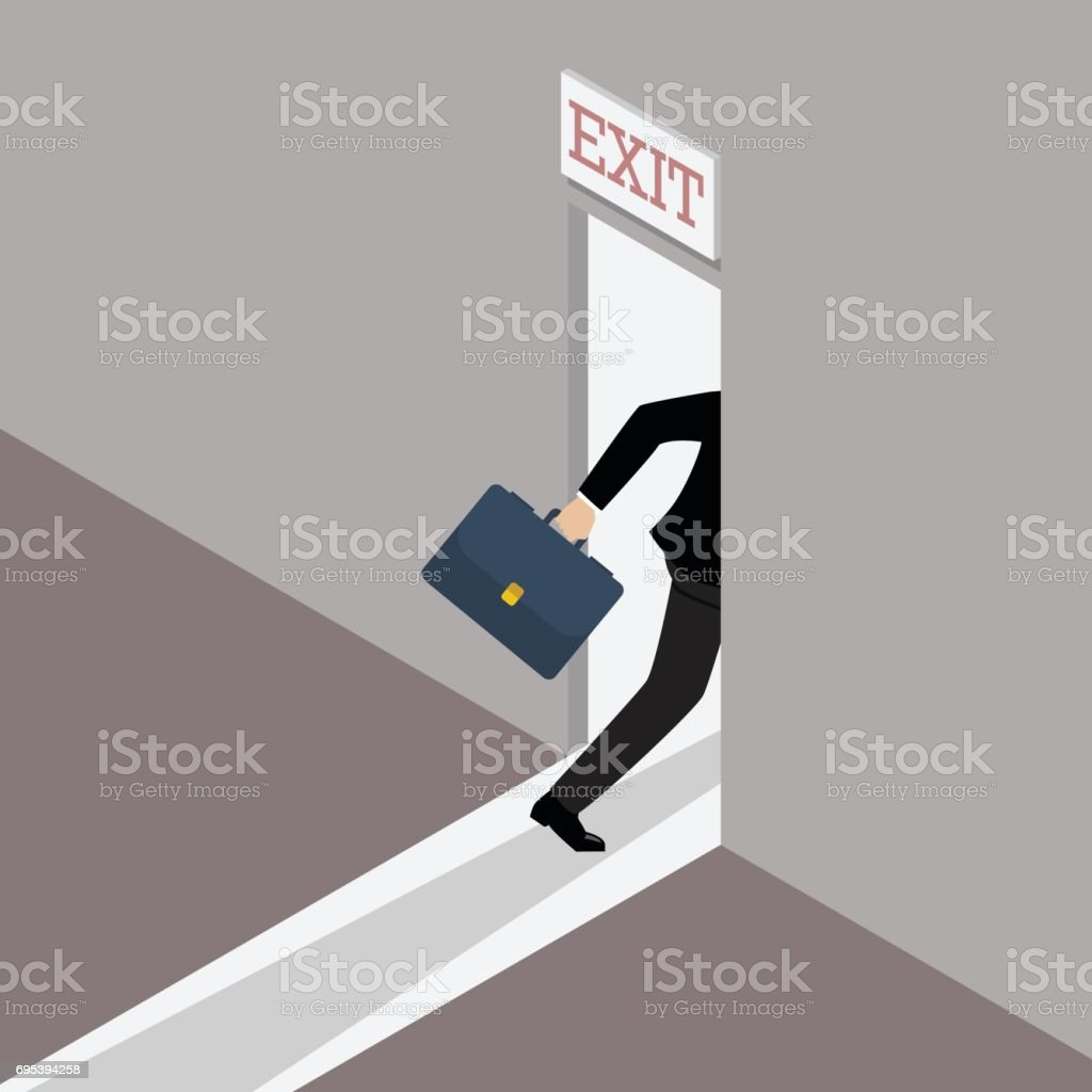 Business solution or exit strategy vector art illustration
