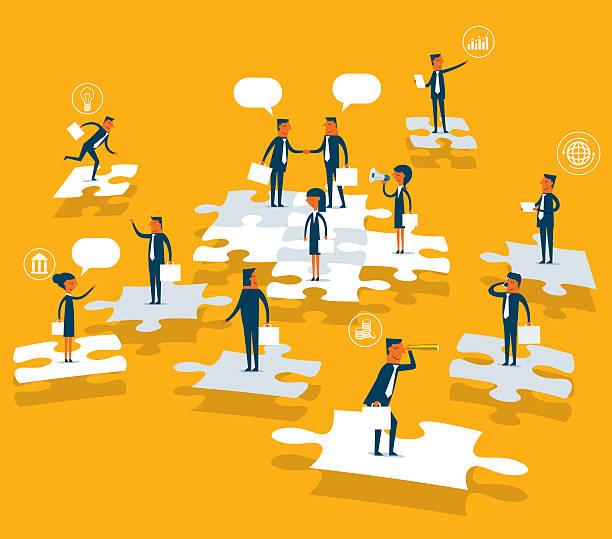 ilustrações, clipart, desenhos animados e ícones de solução de empresariais - gerente de projetos
