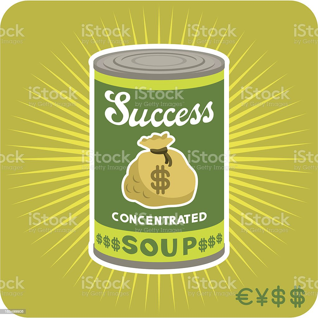 Business Soup. pop art. andy warhol. tin can. royalty-free stock vector art