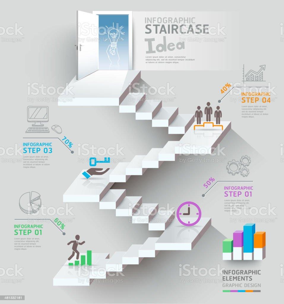 Ilustración de Escalera De Negocios Pensando Idea Escalera Puerta ...