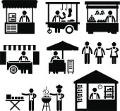 Business Stall Store Booth Market Pictogram