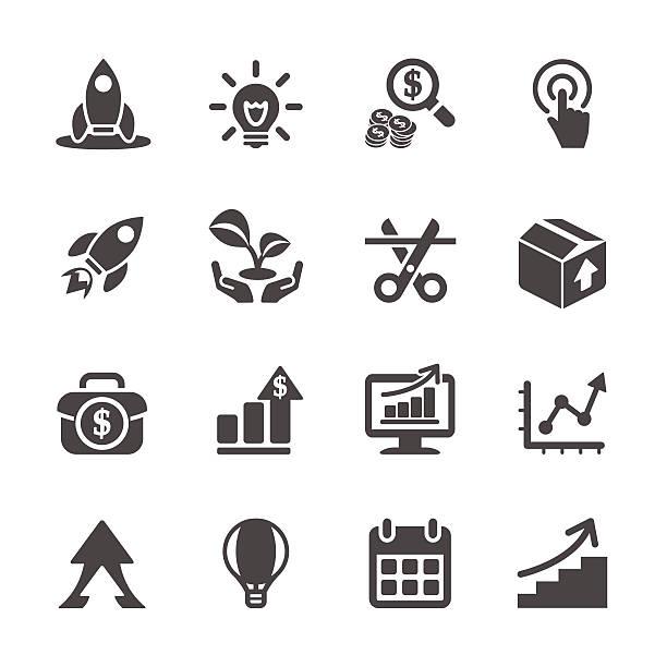 stockillustraties, clipart, cartoons en iconen met business start up icon set, vector eps10 - 2015