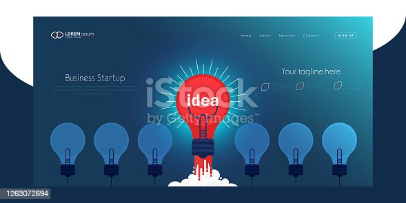 istock Business Start up launch concept stock illustration 1263072694