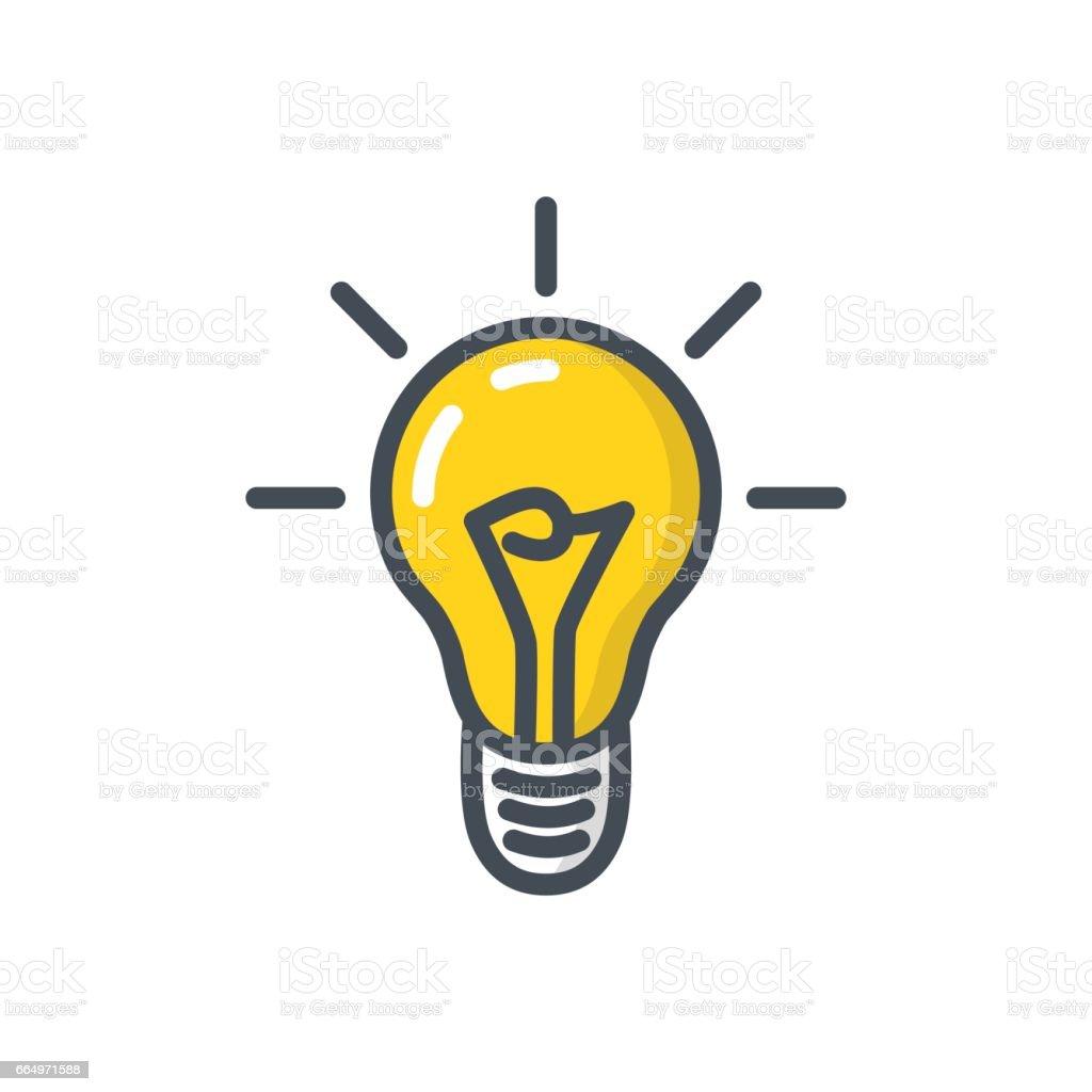 existenzgr ndung farbigen symbol idee gl hbirne vektor illustration 664971588 istock. Black Bedroom Furniture Sets. Home Design Ideas