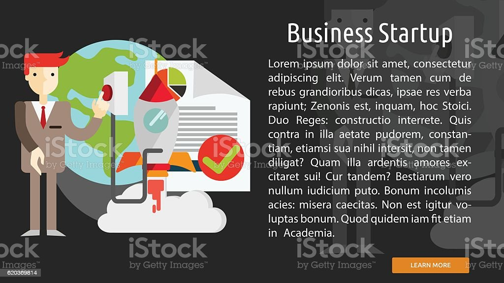 Business Startup Conceptual Banner business startup conceptual banner - arte vetorial de stock e mais imagens de adulto royalty-free